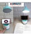 LED лампа със стойка за телефон